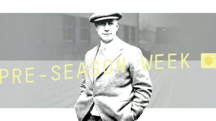 Major Frank Buckley, Leeds' first big name manager, looking swish in tweeds