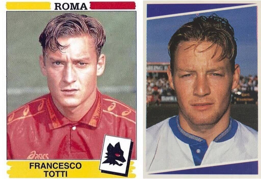 Photos of young Francesco Totti and David Batty side by side, they're practically identical