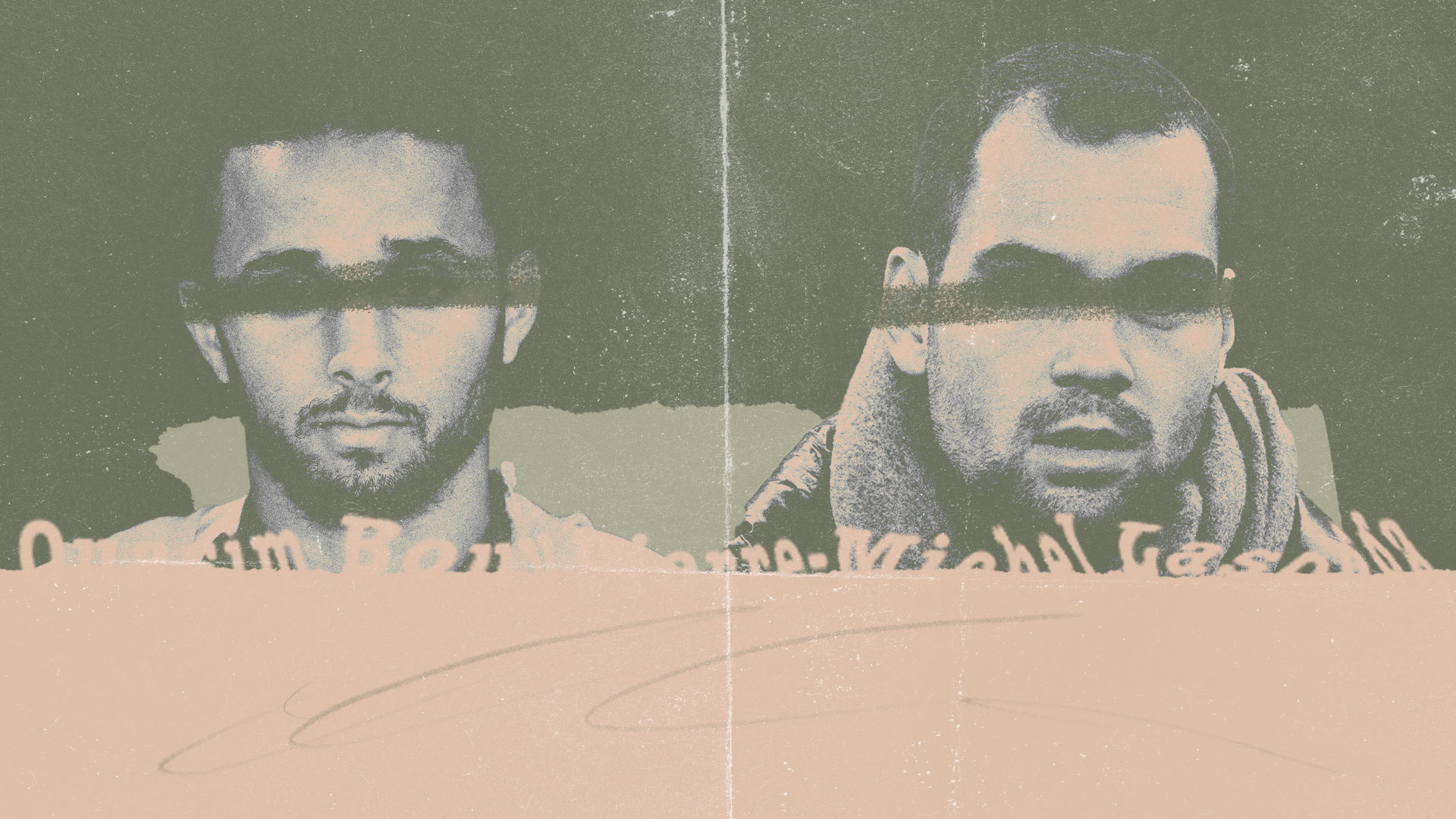 Ouasim Bouy and Pierre-Michel Lasogga photocopied to look like missing persons or something